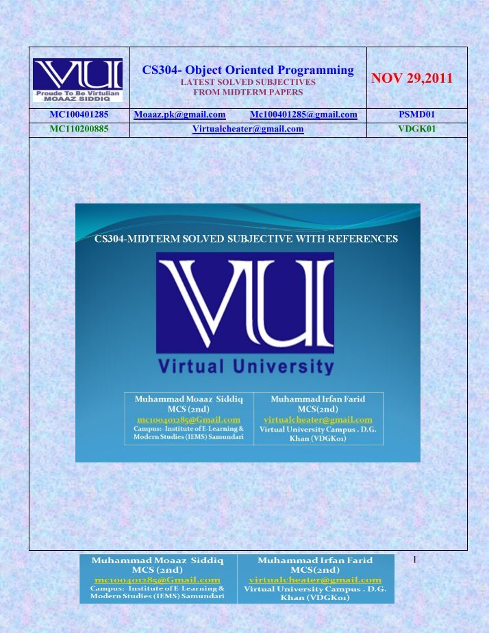 acc501 midterm solved papers Home » » download vu midterm solved papers download vu midterm solved papers nouman ahmed 12:41:00 pm  quiz 02 business finance (acc501) lectures 9 to 25.