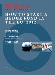 HOW TO START A HEDGE FUND IN THE EU 2012 - HFMWeek