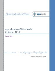 Asynchronous Write Mode in Melio™ 2010 - Sanbolic