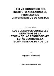 los conceptos contables derivados de la teoría de las restricciones ...