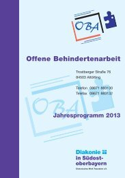 Jahresprogramm 2013 - Diakonische Werk Traunstein eV