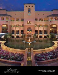 august & september 2011 events & activities - Fairmont Scottsdale