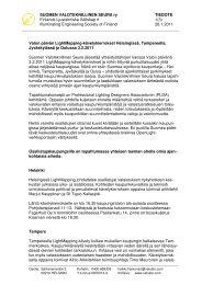 Tiedote (pdf) - Suomen Valoteknillinen Seura