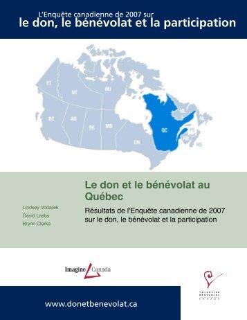 Québec, 2007 - Imagine Canada