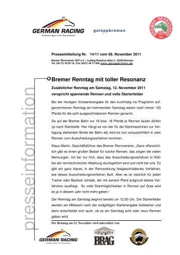 galoppbremen - Bremer Rennverein 1857 e.v.