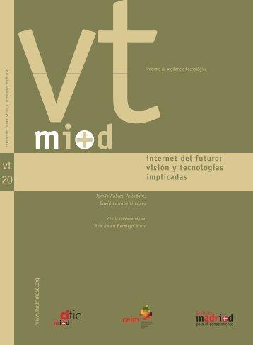 Visión y Tecnologías Implicadas - Madri+d