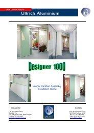 Designer 1000 Assembly Details - Ullrich Aluminium