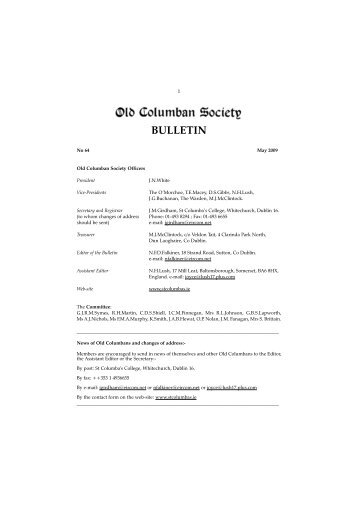 Pages 1-5 3rd Proof - St. Columba's College