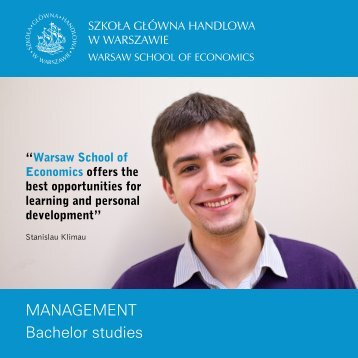 management Bachelor studies