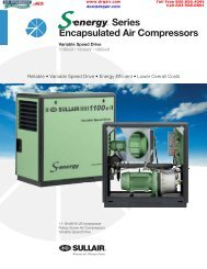 The Sullair S-energyTM Series - DR Guilbeault Air Compressor