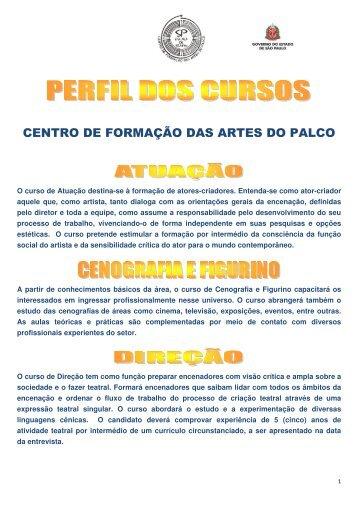 CENTRO DE FORMAÇÃO DAS ARTES DO PALCO - Instituto Mais