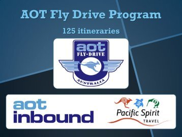 Summary of Fly-Drive itineraries – AU - AOT Online