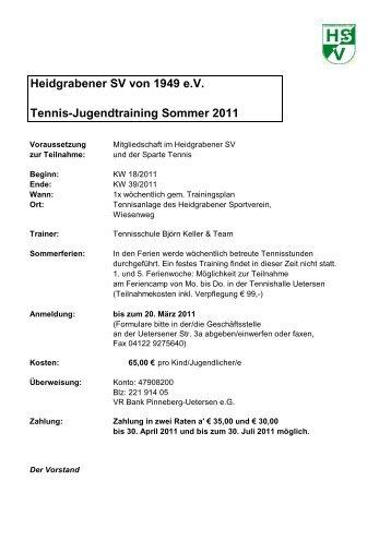 Anmeldung zum Tennistraining Sommer 2011Final - Heidgrabener ...