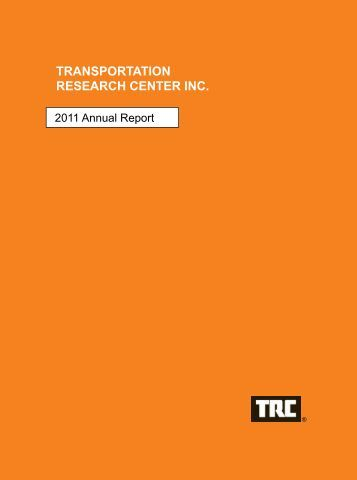 2011 Annual Report - Transportation Research Center