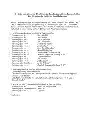 1. Änderungssatzung zur Überleitung der ... - Halberstadt