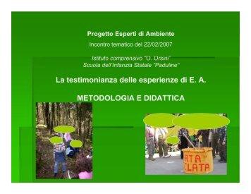 medodologia e didattica ambientale2.doc [Sola lettura] - Comune di ...