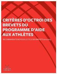 kc-critères octroi brevet athlete programme ... - Karate Canada