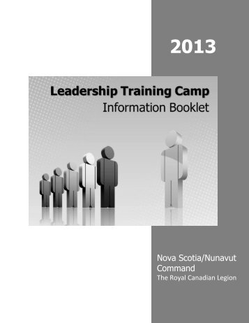 2013 Leadership Training Camp Info Booklet - Royal Canadian ...
