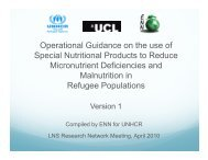 Operational Guidance on the use of p Special Nutritional Products to ...