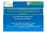 C Dumat, ENSAT/Ecolab