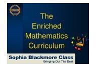 The Enriched Mathematics Curriculum