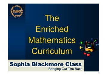 The Enriched Mathematics Curriculum