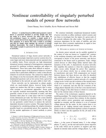 Nonlinear controllability of singularly perturbed models of ... - ICASA