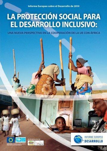 a : la protección social para el desarrollo inclusivo: una nueva ...