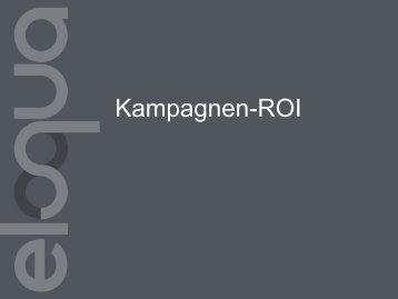 Kampagnen-ROI - Topliners - Eloqua