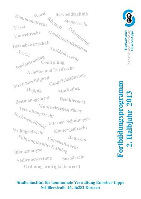 Download des Fortbildungsprogramms 2/2013 - Studieninstitut ...