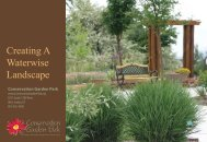 Creating A Waterwise Landscape - Conservation Garden Park