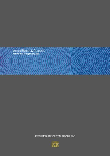 Full year annual report 1998 - Intermediate Capital Group PLC