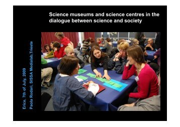 Communicating Science in Museums and Science Centres