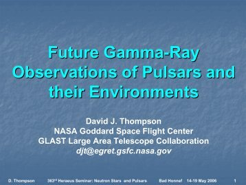 Future Gamma-ray observations of pulsars and their environment