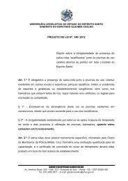 PROJETO DE LEI Nº_140/ 2012 Dispõe sobre a obrigatoriedade da ...