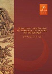 Bulletin n°25 janvier 2012 - Fédération des Enseignants de Qi Gong ...