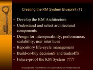 KM System, KM Architecture, KM Repositories, KM Applications