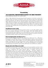 Pressemitteilung Pressemitteilung AMA MARKETING: FRISC AMA ...