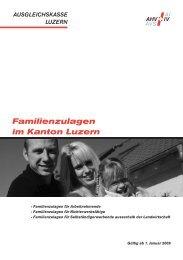 Familienzulagen im Kanton Luzern - Ausgleichskasse Luzern