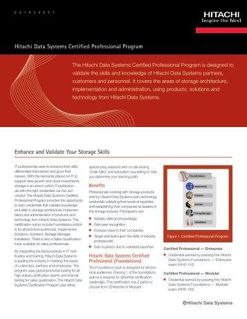 Enhance and Validate Your Storage Skills - Hitachi Data Systems
