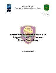 External Information Sharing in Support of NATO Counter- Piracy ...