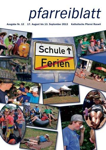 Pfarreiblatt 12/ 2013 - Pfarrei-ruswil.ch