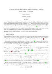 Improved Sobolev Inequalities and Muckenhoupt weights on ...