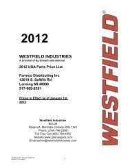 2012 US PARTS PRICE LIST - Farmco Distributing Inc