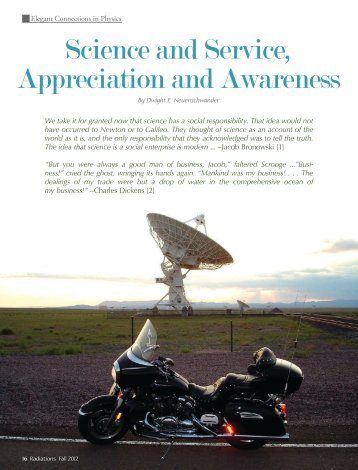 Science and Service, Appreciation and Awareness - Sigma Pi Sigma