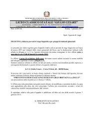 Richiesta preventivi stage linguistico marzo 2013 - Liceo Giulio ...