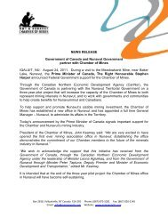 Chamber-News-Release.. - NWT & Nunavut Chamber of Mines