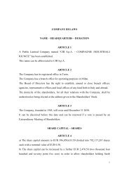 COMPANY BYLAWS NAME – HEADQUARTERS – DURATION ...