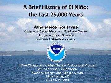 A Brief History of El Niño - VSP | UCAR Visiting Scientist Programs