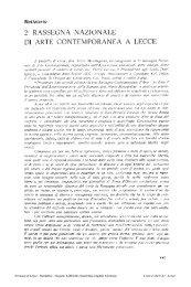 2a RASSEGNA NAZIONALE DI ARTE ... - culturaservizi.it